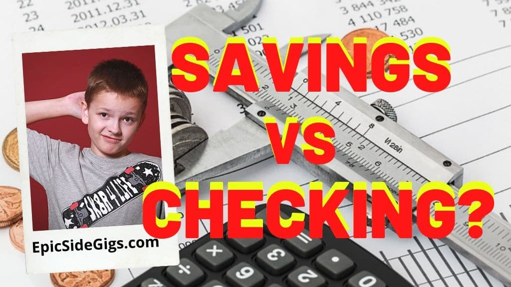 difference between checking and savings account